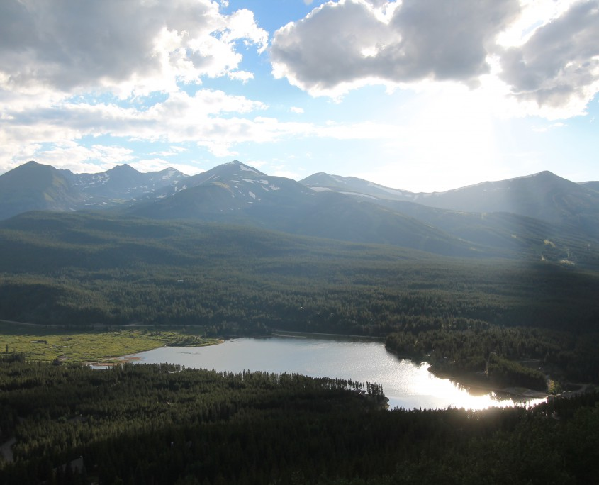 View from Boreas Pass in the summer